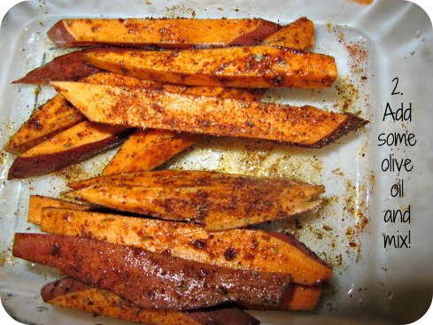 Sweet Potato Fries Mixed