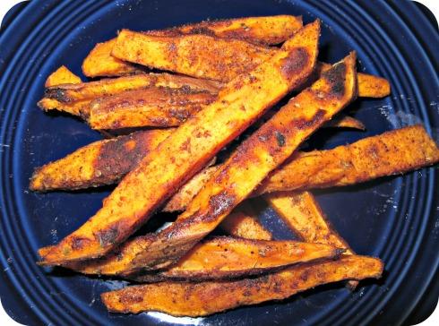 Sweet Potato Fries Finished