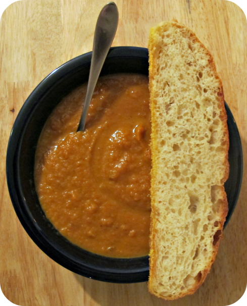 Carrot Ginger Soup + French Peasant Bread